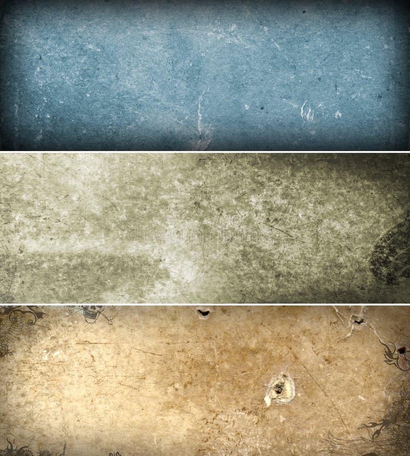 Grunge Fahnen lizenzfreie stockfotos