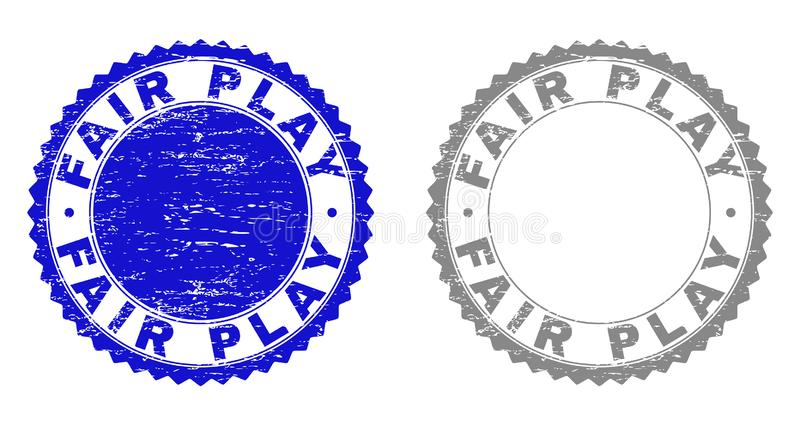 Grunge FAIR PLAY Textured Stamp Seals vector illustration