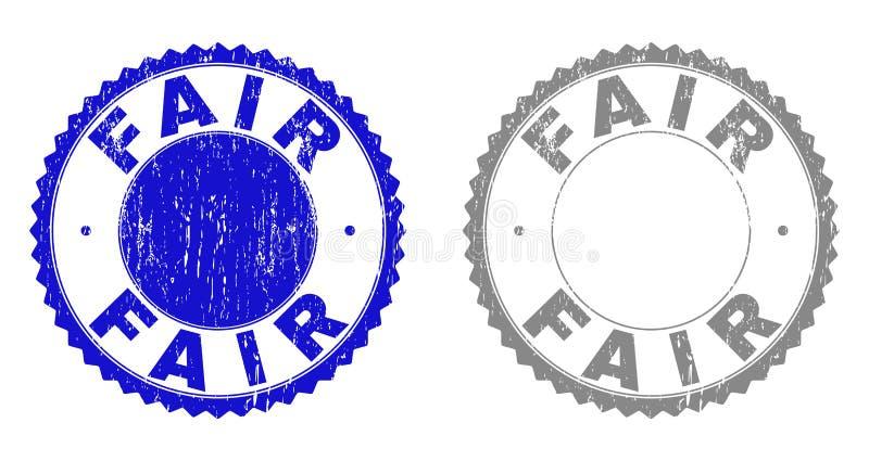 Grunge FAIR Scratched Stamp Seals stock illustration