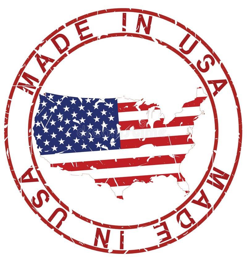 Grunge fait dans le timbre des Etats-Unis illustration libre de droits