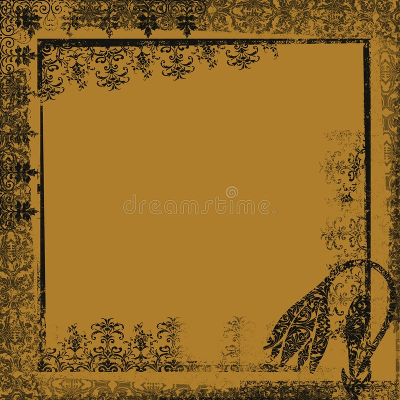 Grunge Fantasy Ornamental Artwork Backdrop royalty free illustration