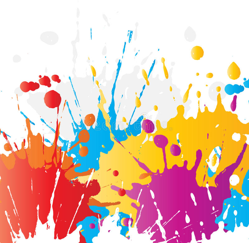 grunge farby splats ilustracji