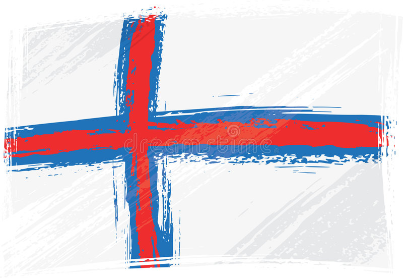 Grunge Faroe Islands flag stock photography