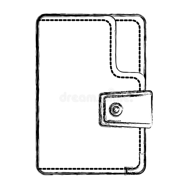 Grunge fashion wallet textile accessory style. Vector illustration royalty free illustration