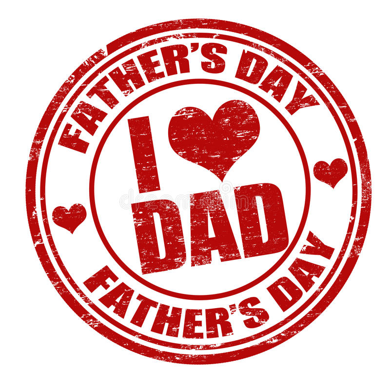 Fathers day stamp stock illustration