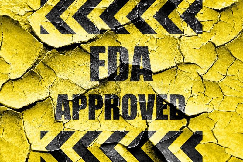Grunge FDA krakingowy zatwierdzony tło obrazy stock