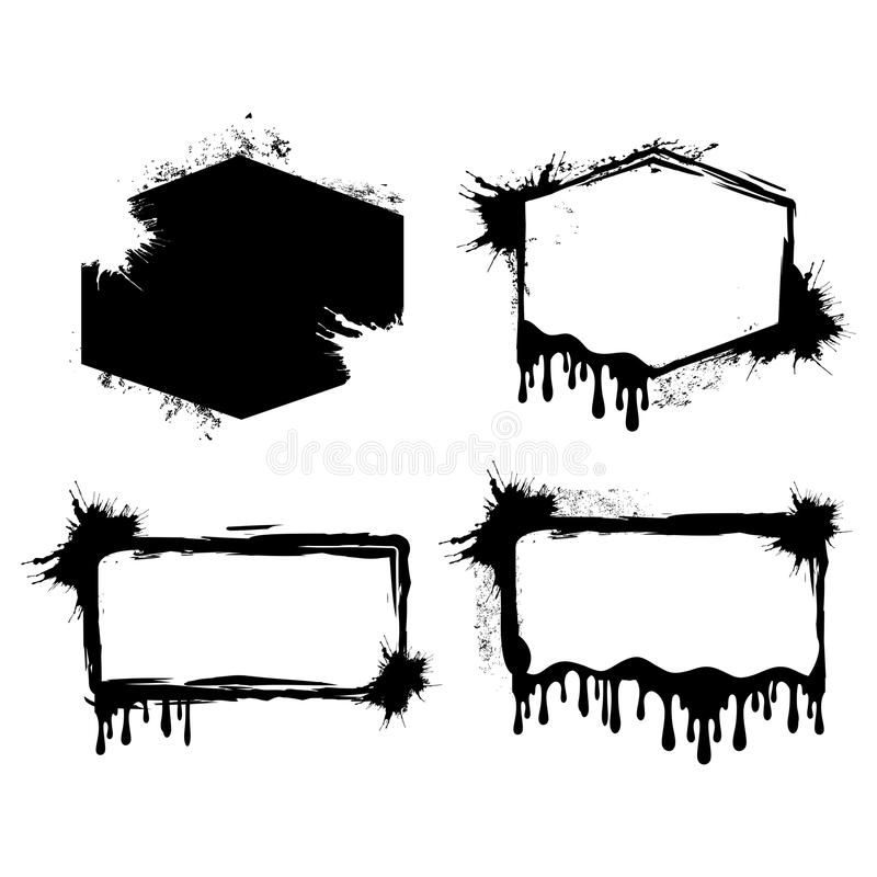 Grunge Feld Kann als Postkarte verwendet werden Abstrakte vektorschablone vektor abbildung