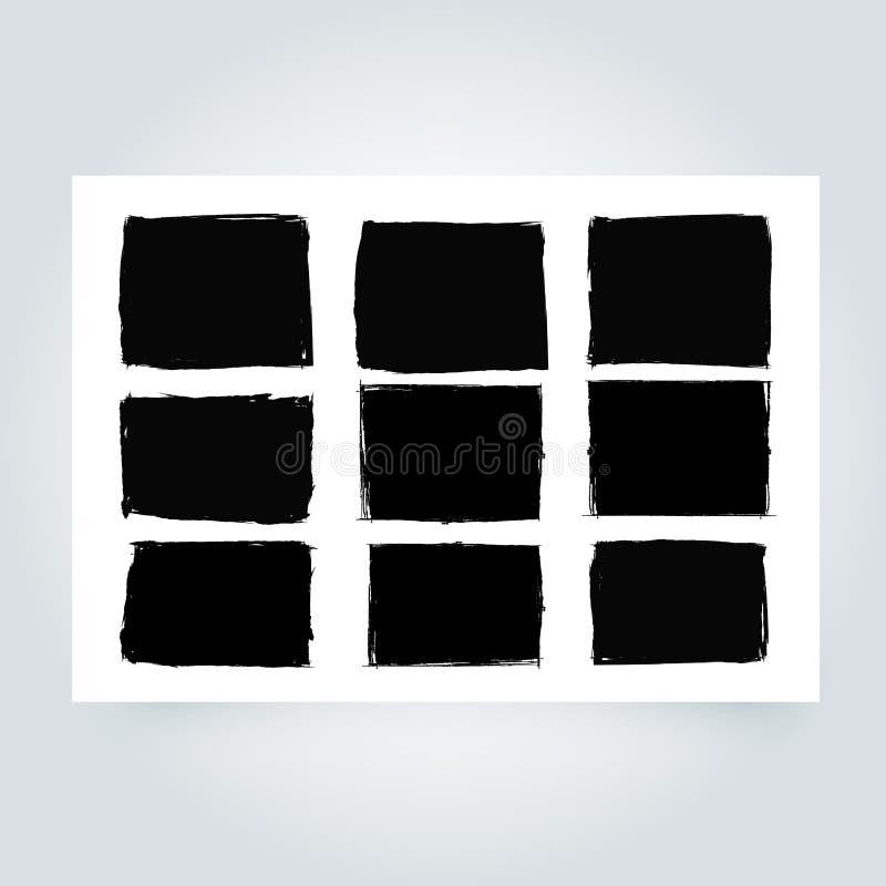 Grunge Feld Schmutzgrenzhintergrund Abstrakte vektorschablone stock abbildung