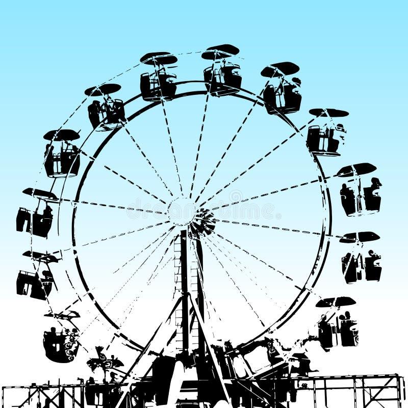 Grunge Ferris Wheel ilustración del vector