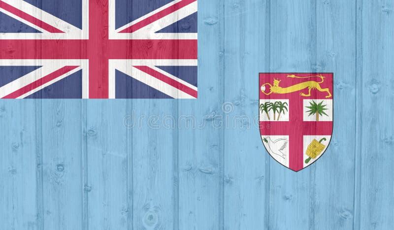 Grunge Fiji flaga ilustracja wektor