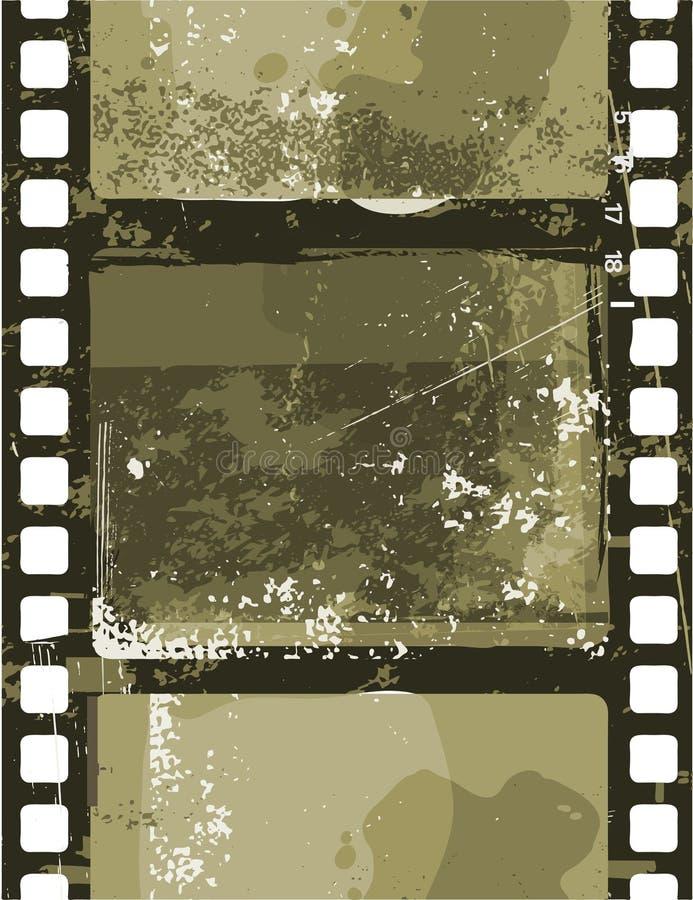 Grunge film vektor illustrationer
