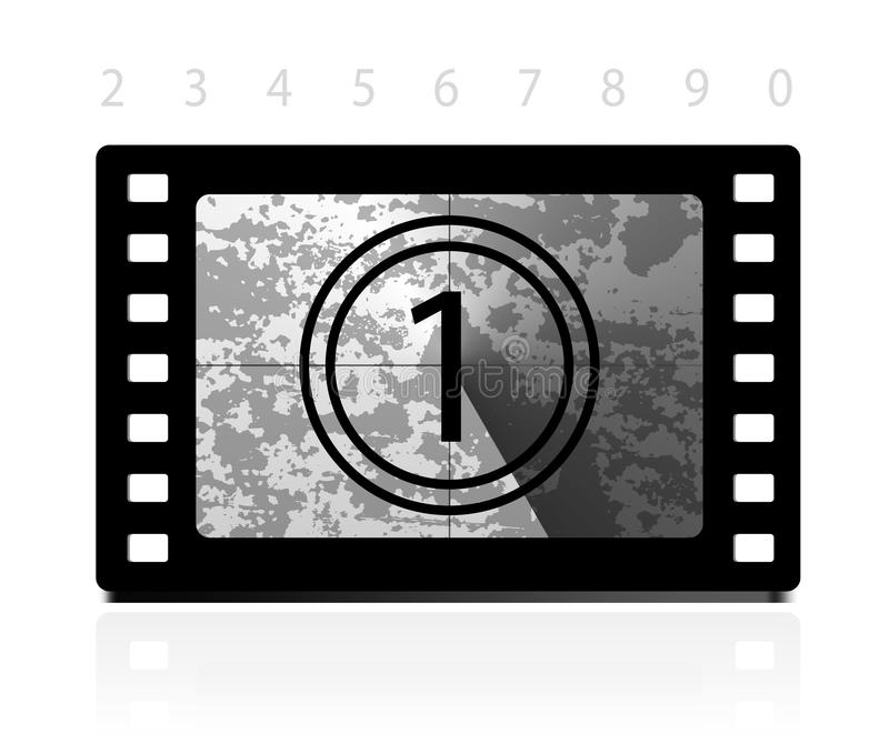 Download Grunge film countdown stock vector. Image of retro, background - 25433472