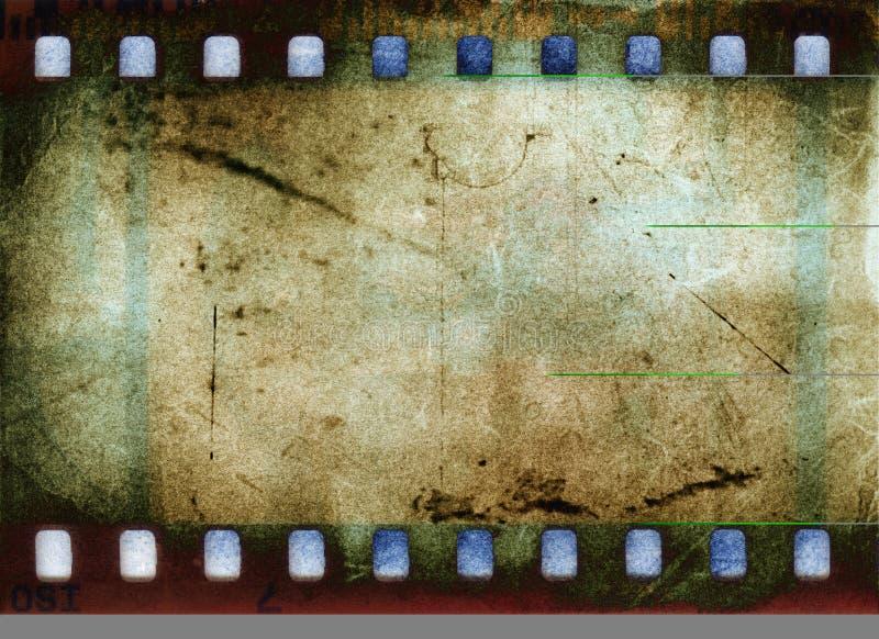 Grunge Film-Feld lizenzfreie abbildung