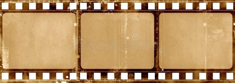 Grunge film frame royalty free illustration