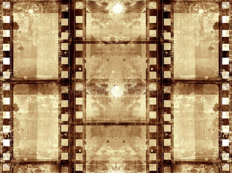 Grunge film frame vector illustration