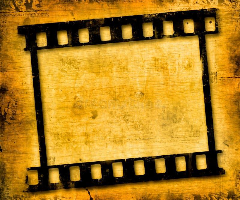 Grunge film frame stock illustration