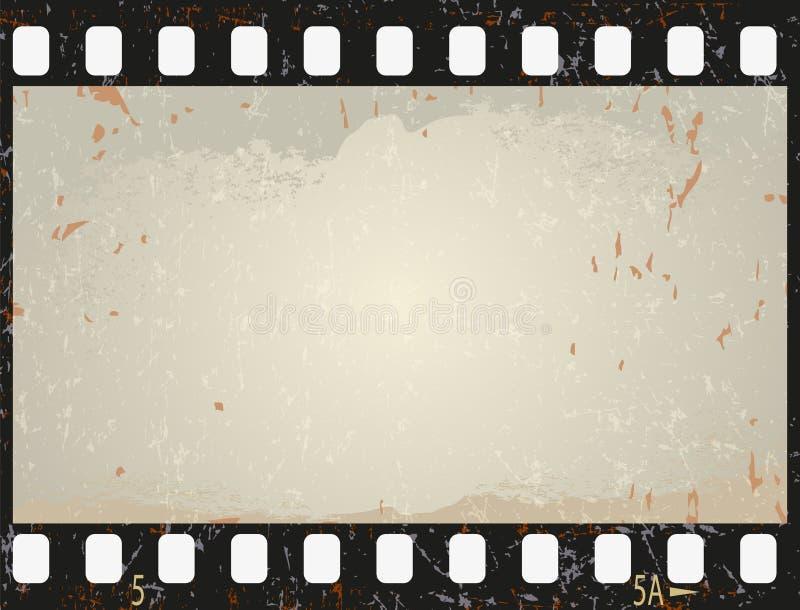 Grunge film frame, vector illustration