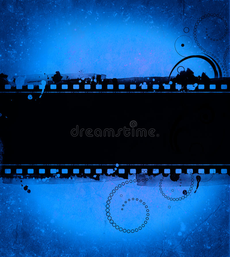 Grunge film frame with space for text or image vector illustration