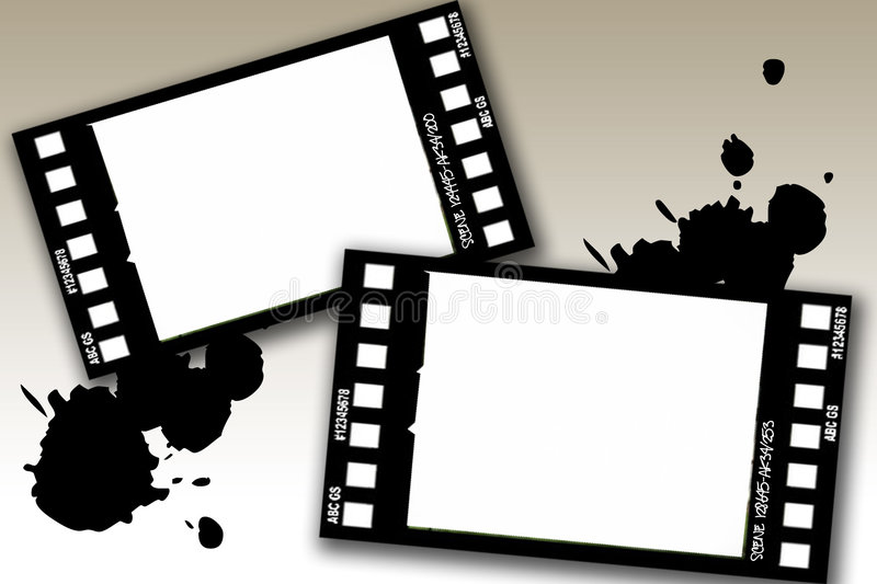 Grunge film frames royalty free illustration