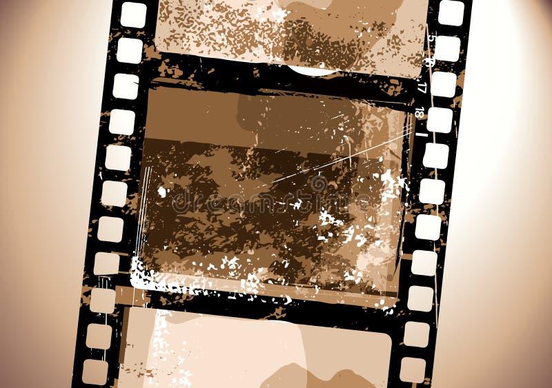 Grunge Film pattern stock illustration