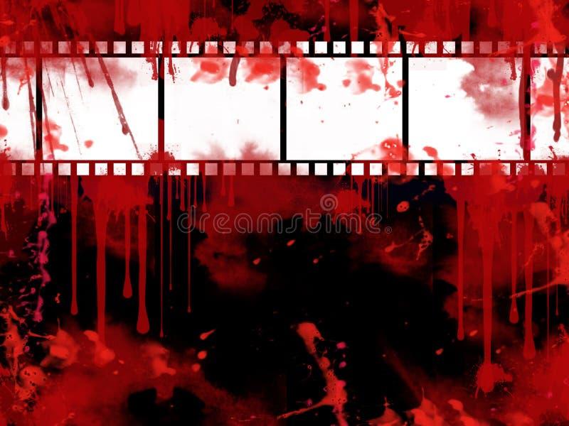 Grunge Film-Streifenhintergrund lizenzfreie abbildung
