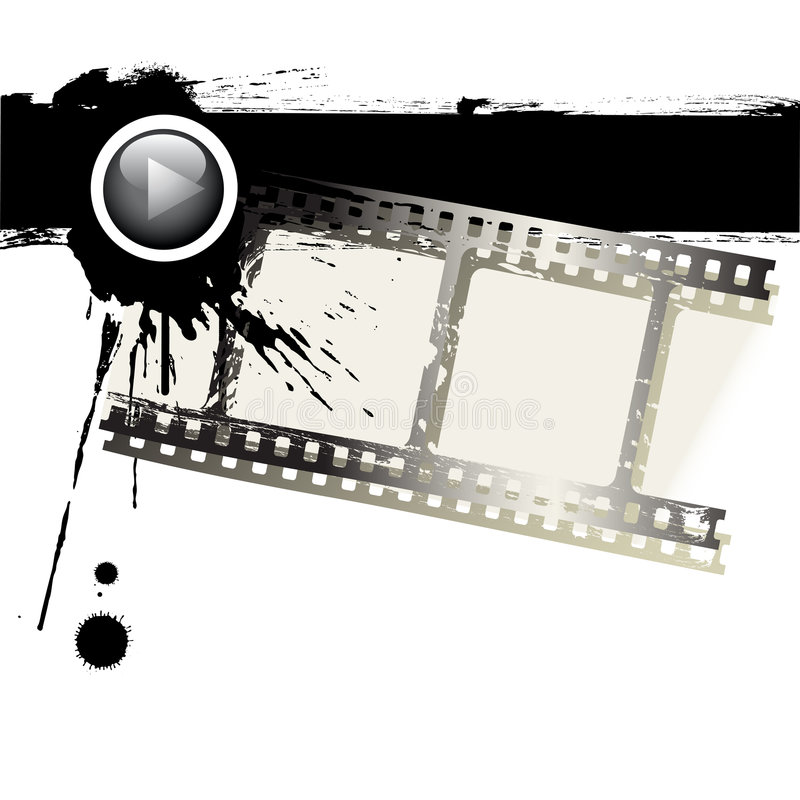 Download Grunge film strip stock vector. Image of modern, entertainment - 6615405