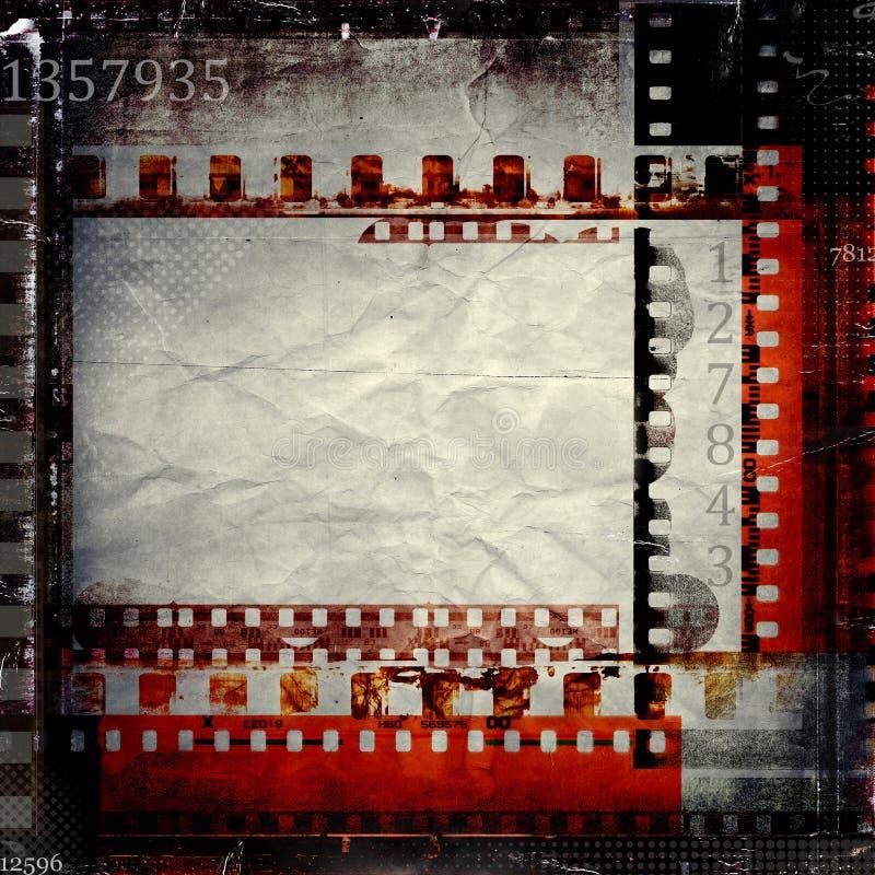 Grunge film stripes frame royalty free illustration