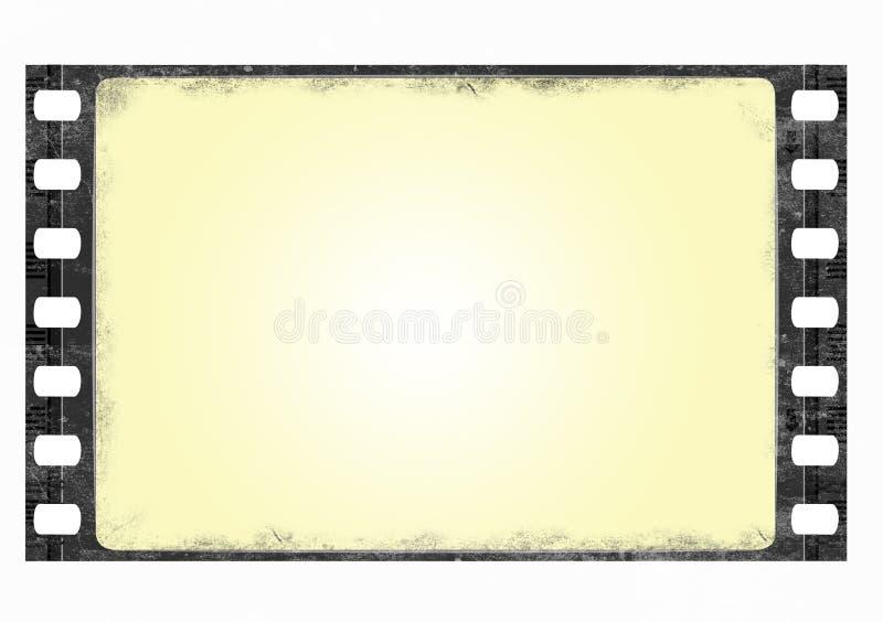 Grunge Filmfeld des breiten Bildschirms stock abbildung