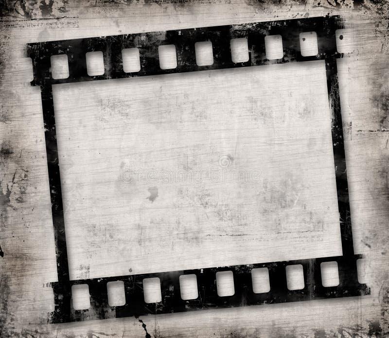 Grunge filmram royaltyfri illustrationer