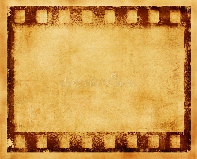 Grunge filmram stock illustrationer