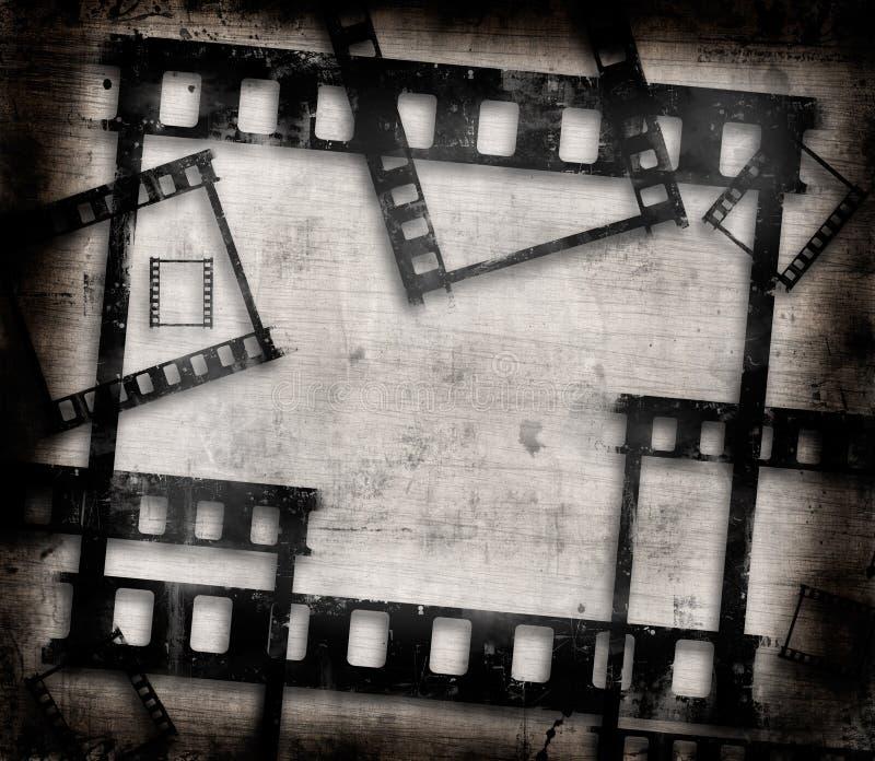 Grunge filmramar royaltyfri illustrationer