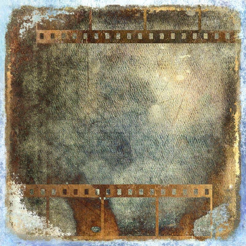 Grunge Filmstreifen stock abbildung