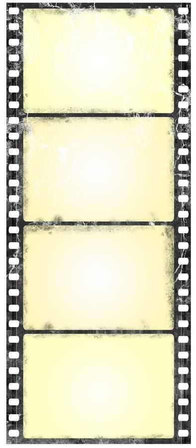 grunge filmstrip широкоэкранное иллюстрация вектора