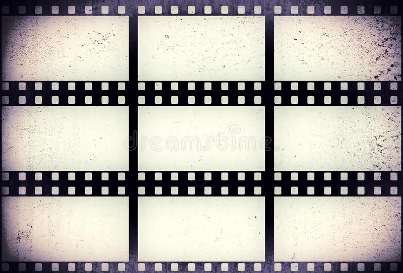 Grunge filmstrip. May be used as a background, design element royalty free stock photo