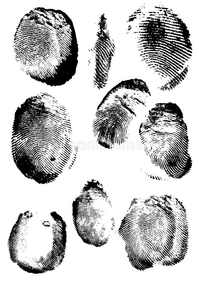 Grunge Fingerabdruck stock abbildung