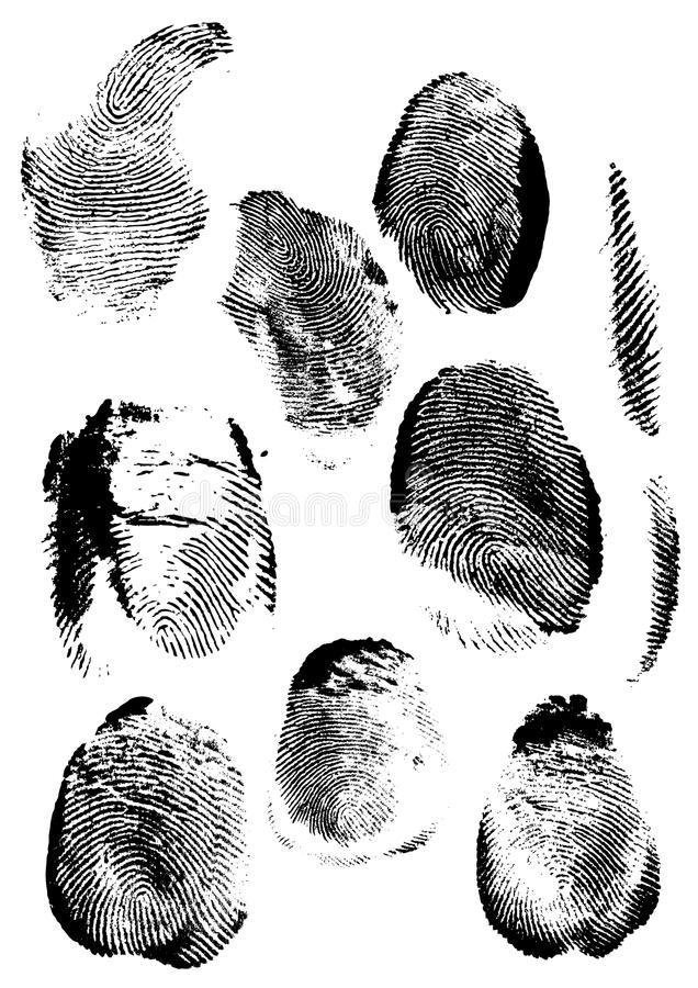 Grunge Fingerabdruck vektor abbildung