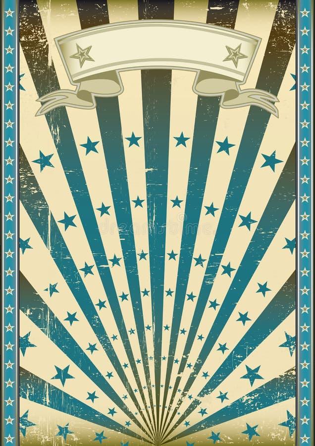 Grunge flag blue sunbeams royalty free stock image