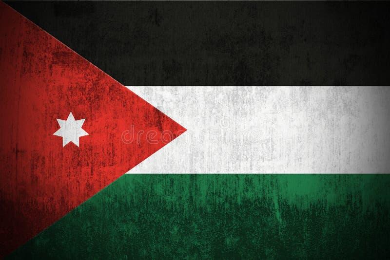 Grunge Flag Of Jordan. Weathered Flag Of Jordan, fabric textured vector illustration