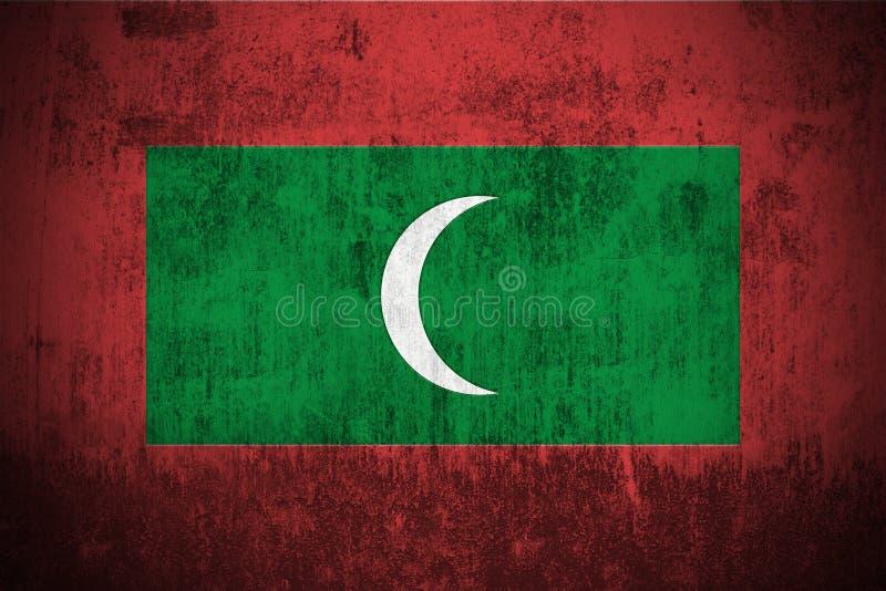 Download Grunge Flag Of Maldives stock illustration. Image of pattern - 6163573