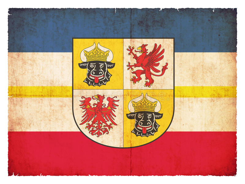 Grunge flag of Mecklenburg-Western Pomerania Germany stock photo