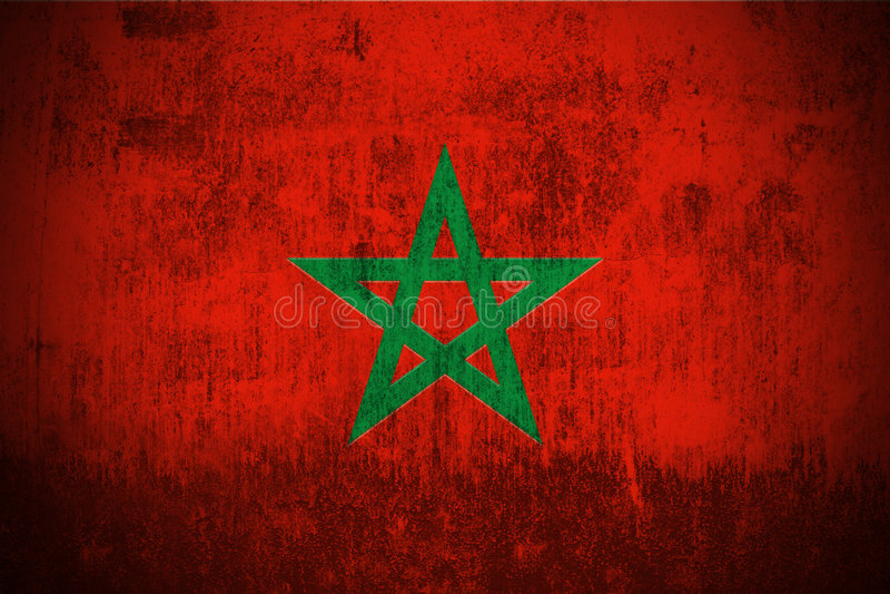 Grunge Flag Of Morocco royalty free illustration