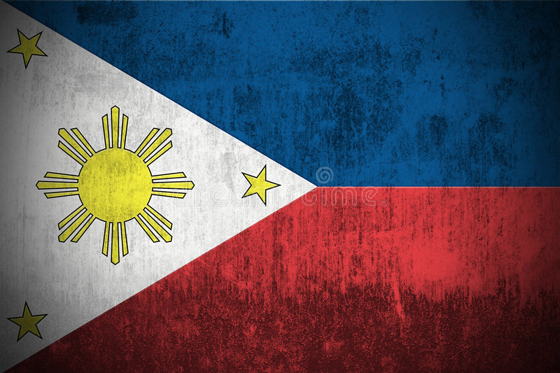 Download Grunge Flag Of Philippines stock illustration. Image of smudged - 6163883
