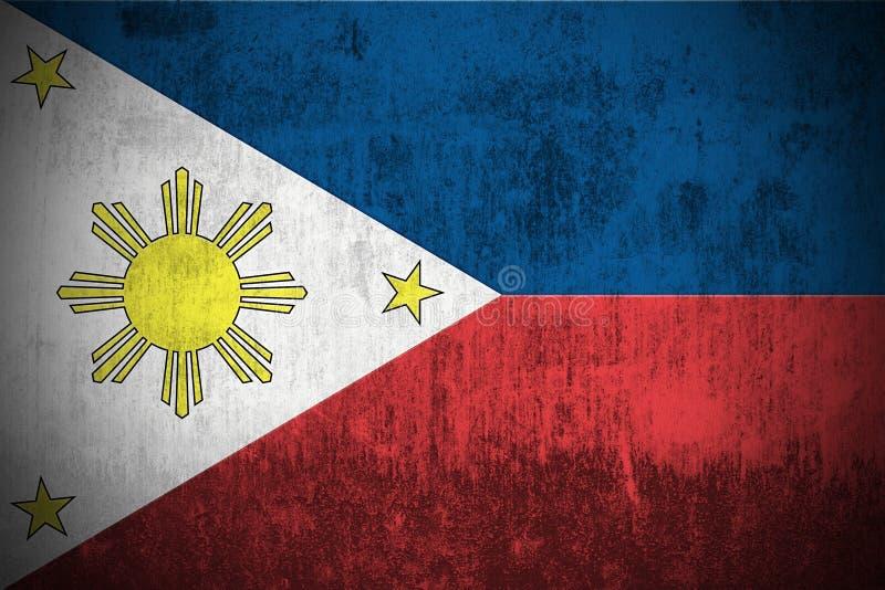 Grunge Flag Of Philippines vector illustration