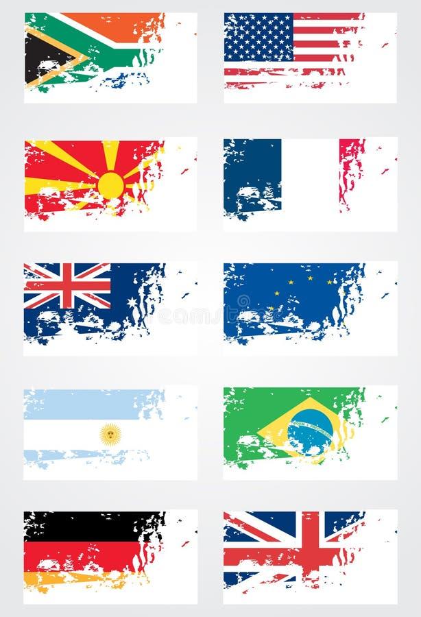 Free Grunge Flag Set Royalty Free Stock Image - 13410876