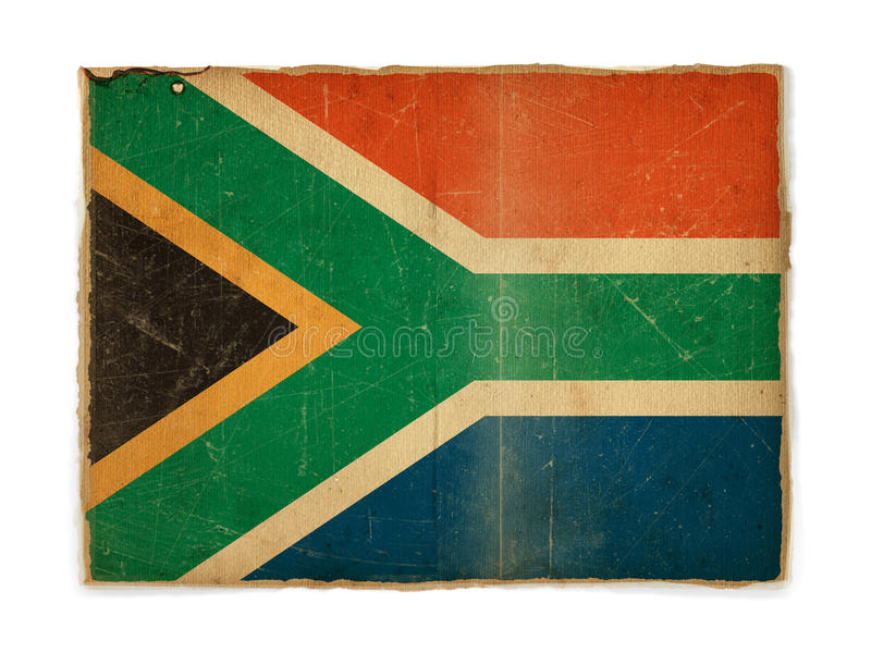 Grunge flag of South Africa royalty free stock image