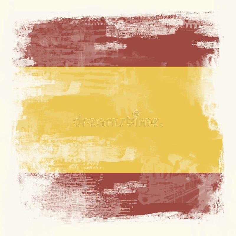 Grunge flag of Spain stock illustration