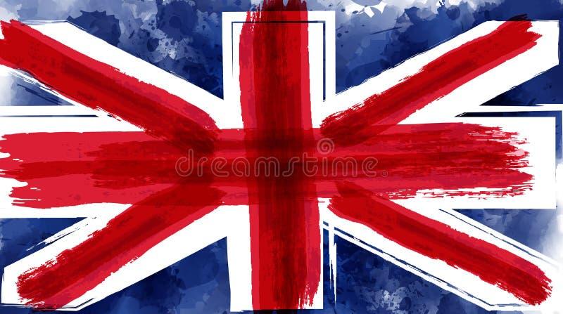 Grunge flag of the United Kingdom royalty free illustration
