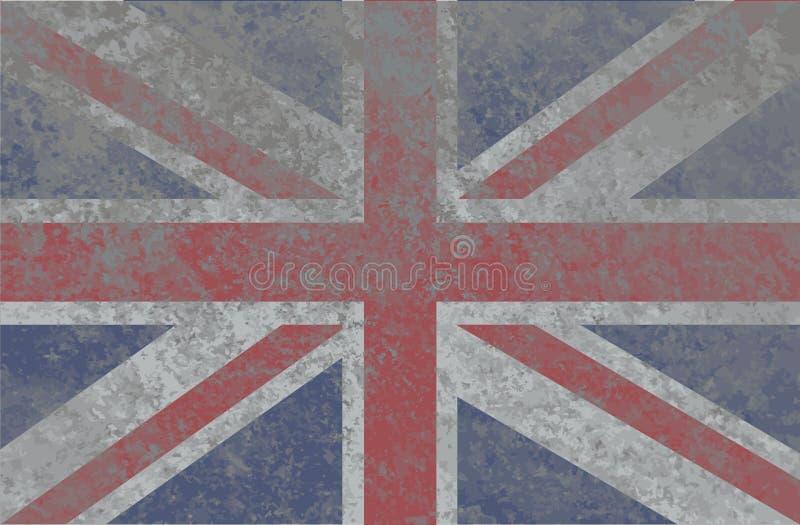 Grunge flaga państowowa Anglia fotografia royalty free