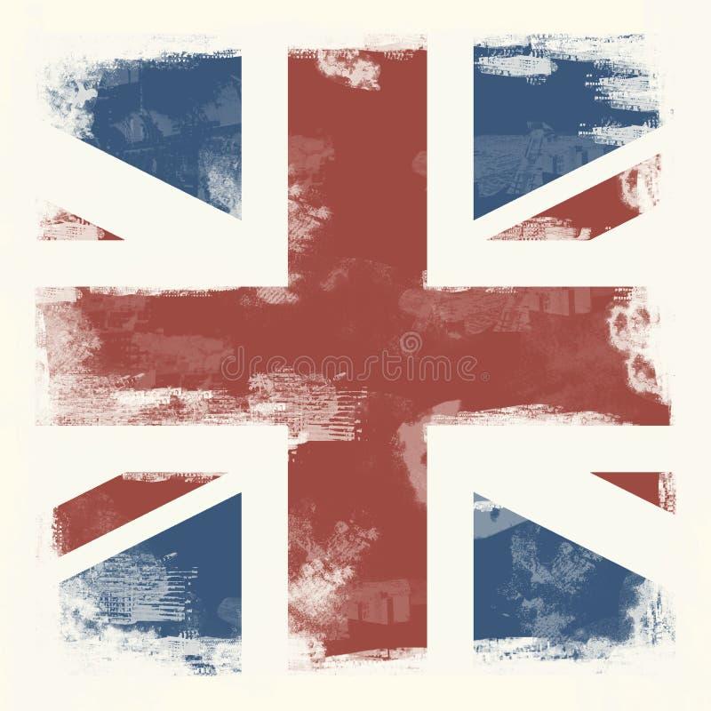 Grunge flagga av Great Britain vektor illustrationer