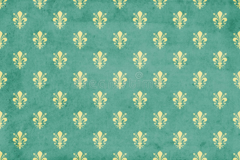 grunge fleur de lis wallpaper stock illustration   image